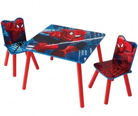 Set - otroška mizica in 2 otroška stola Spiderman