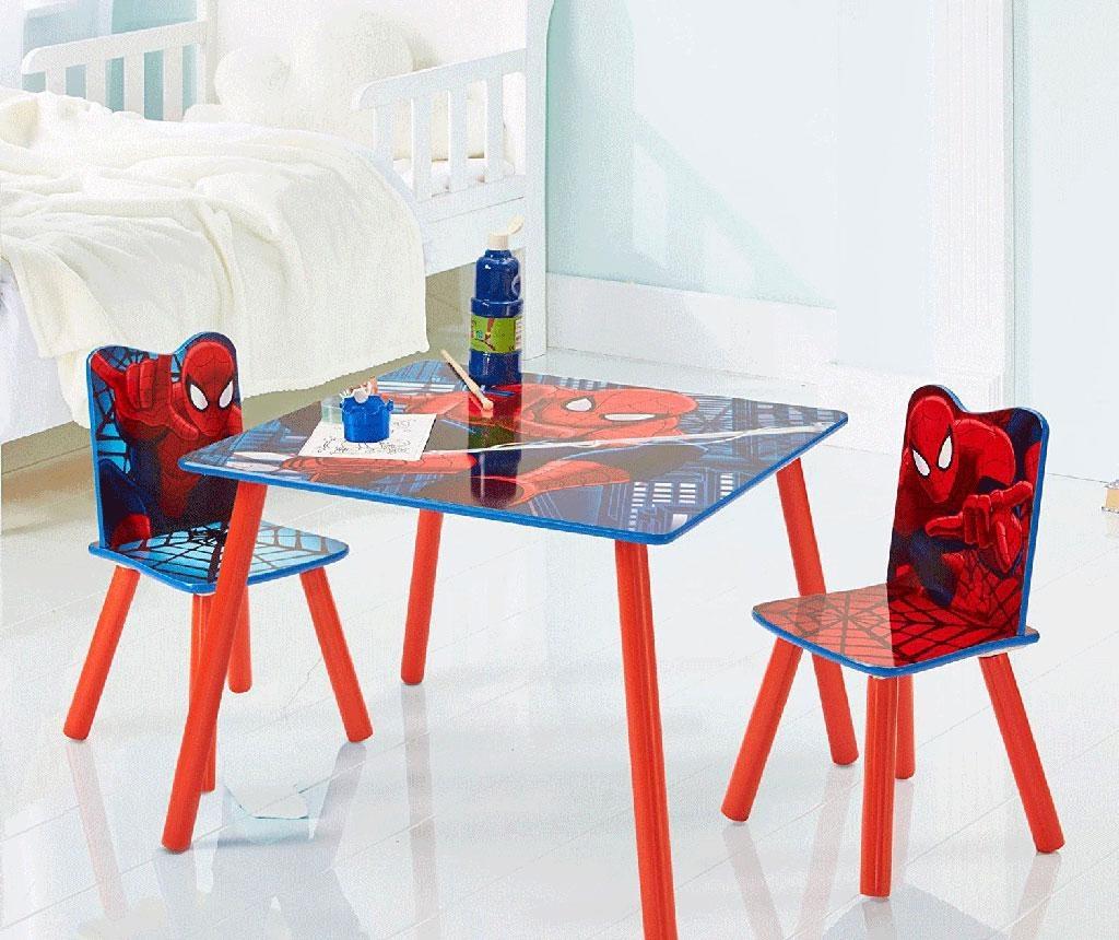 Set masa si 2 scaune pentru copii Spiderman