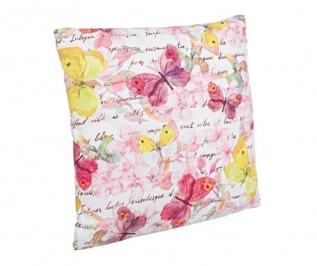 Dekorační polštář Pink Butterfly 40x40 cm