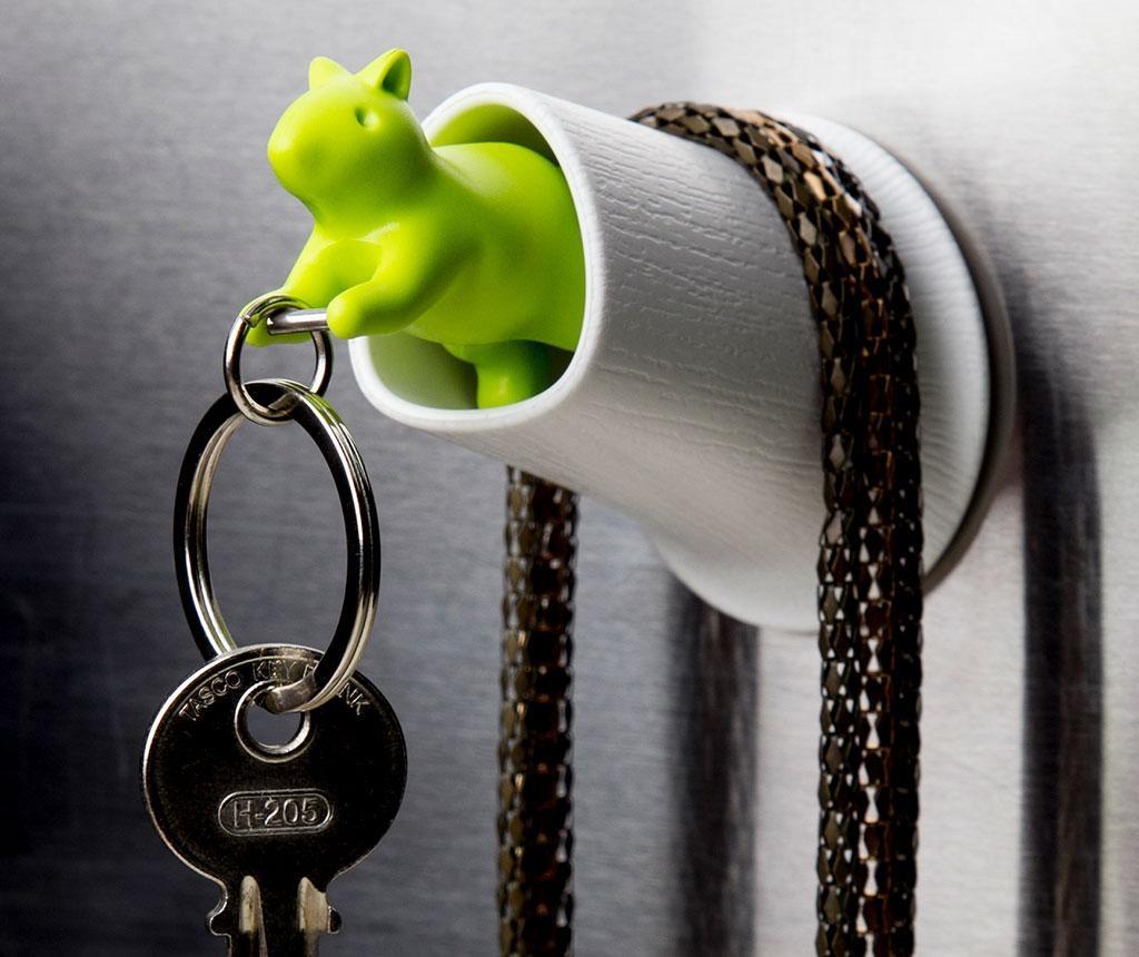 Set breloc si suport pentru chei Squirrel Brown Green