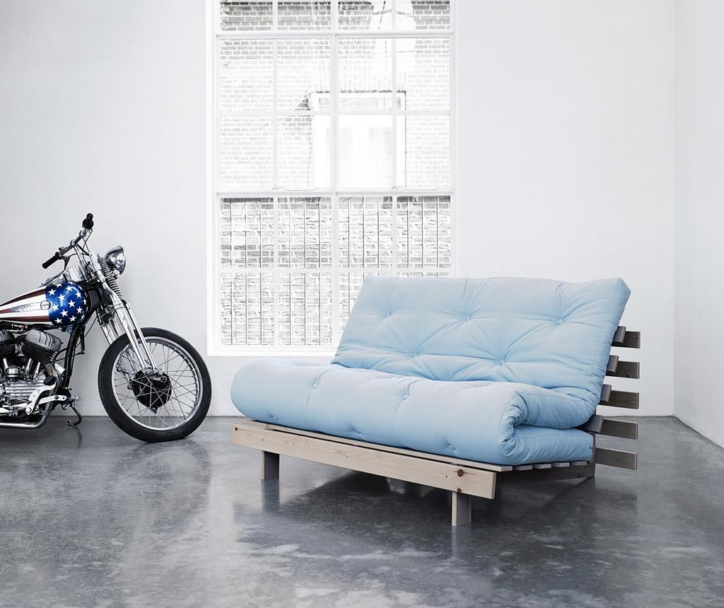Sofa extensibila Roots Wide Natural and Celeste Blue