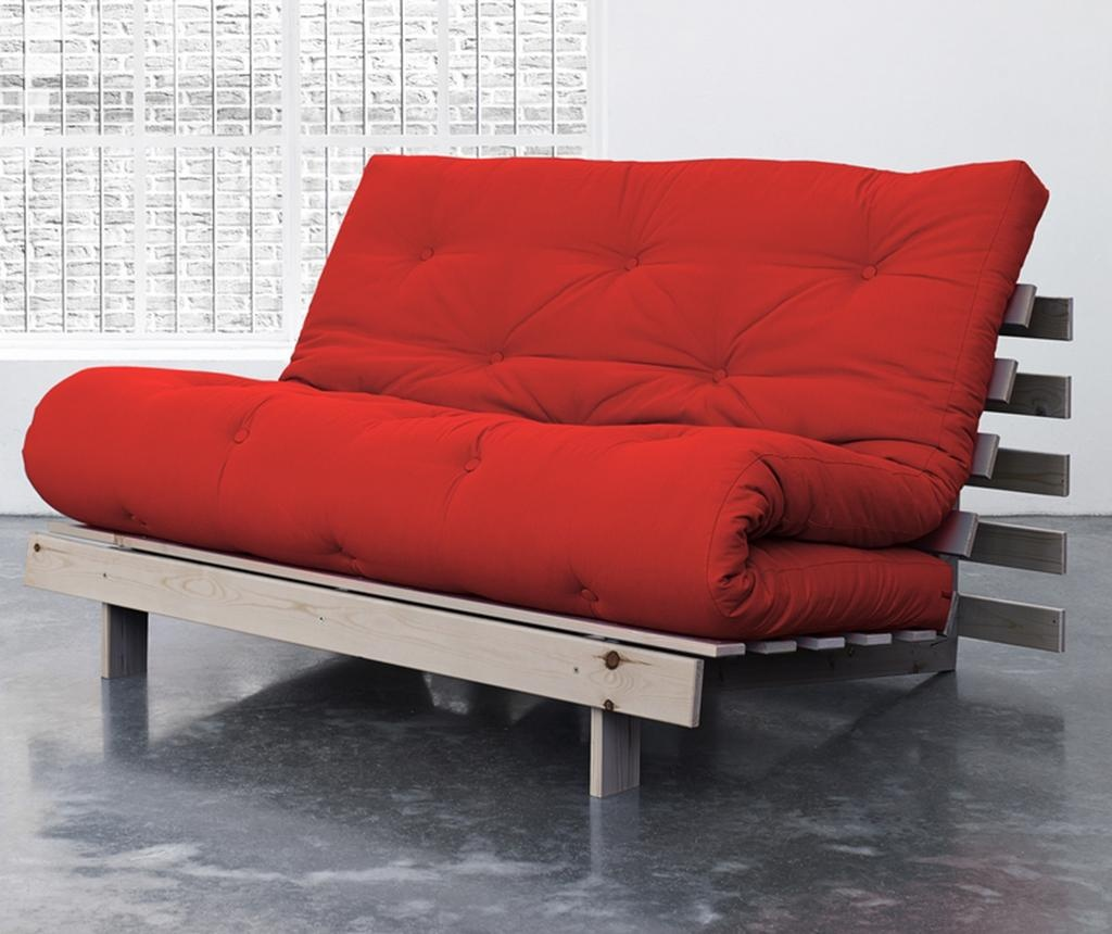 Sofa extensibila Roots Wide Natural and Red