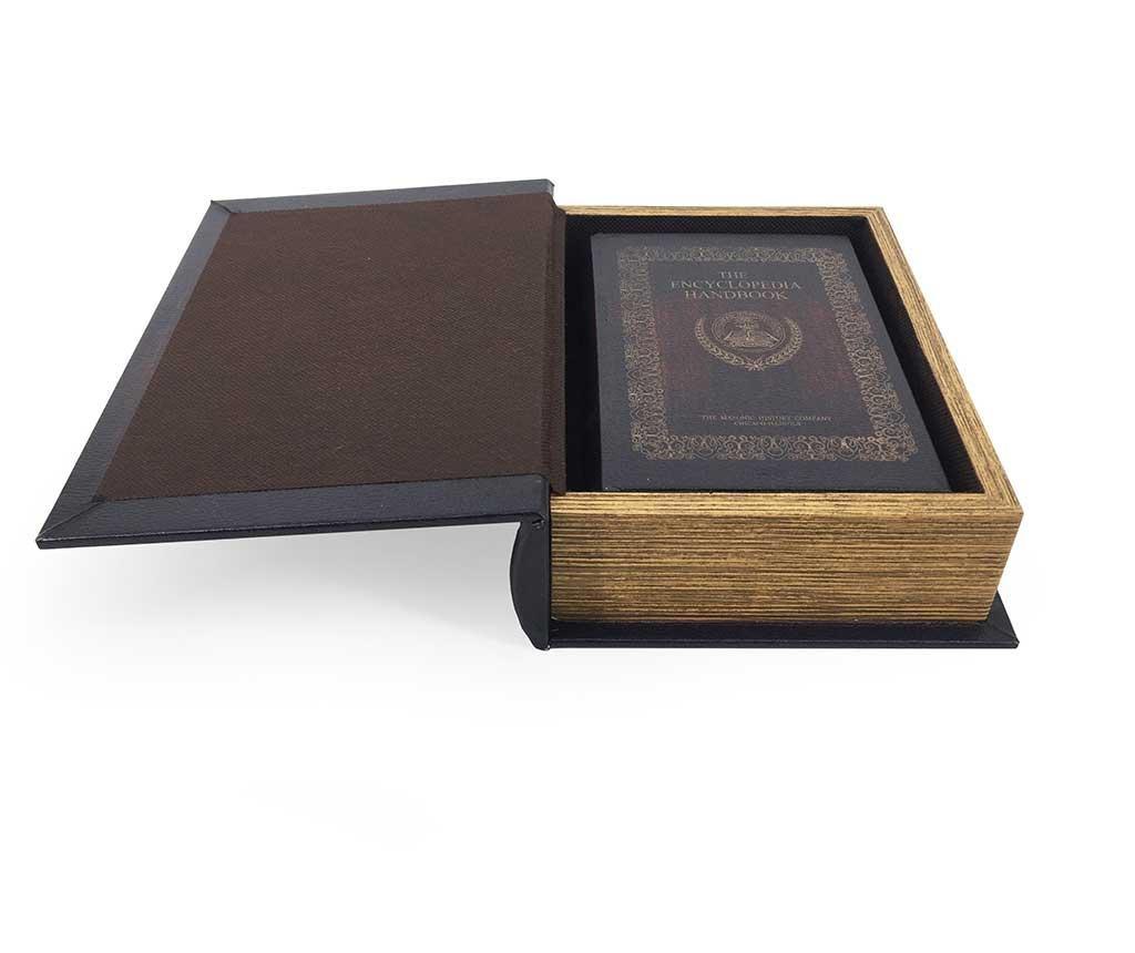 Set 2 škatel v obliki knjige Encyclopedia