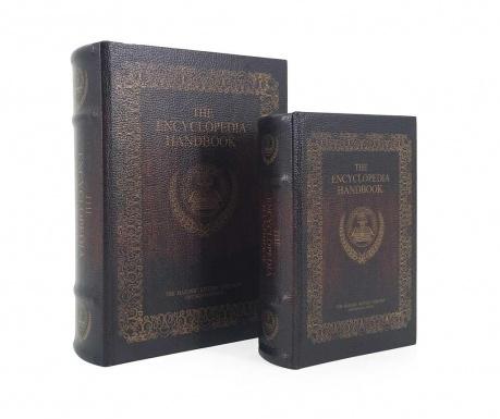 Σετ 2 κουτιά τύπου βιβλίο Encyclopedia