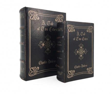 Σετ 2 κουτιά τύπου βιβλίο Tale of Two Cities Cross