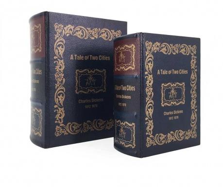 Σετ 2 κουτιά τύπου βιβλίο Tale of Two Cities