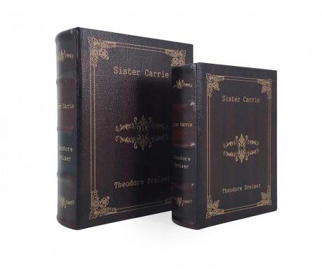 Σετ 2 κουτιά τύπου βιβλίο Sister Carrie