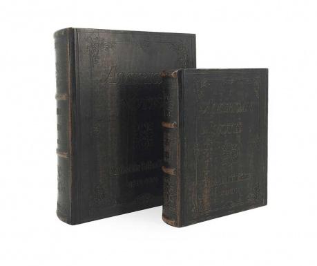 Σετ 2 κουτιά τύπου βιβλίο American notes
