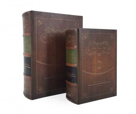 Σετ 2 κουτιά τύπου βιβλίο Uncle Tom