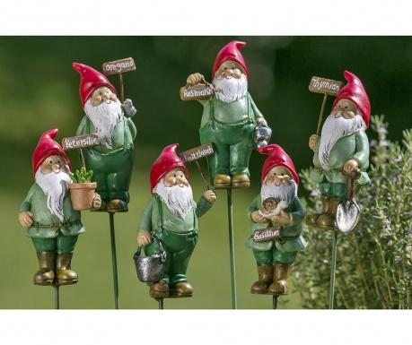 Sada 6 záhradných dekorácií Herby Stick