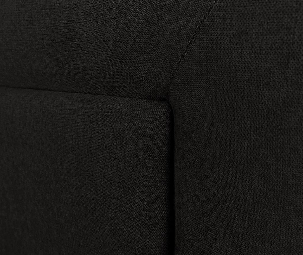 Tablie de pat Ancona Black 120x200 cm