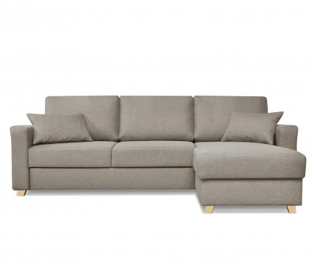 Coltar reversibil extensibil Nice Taupe