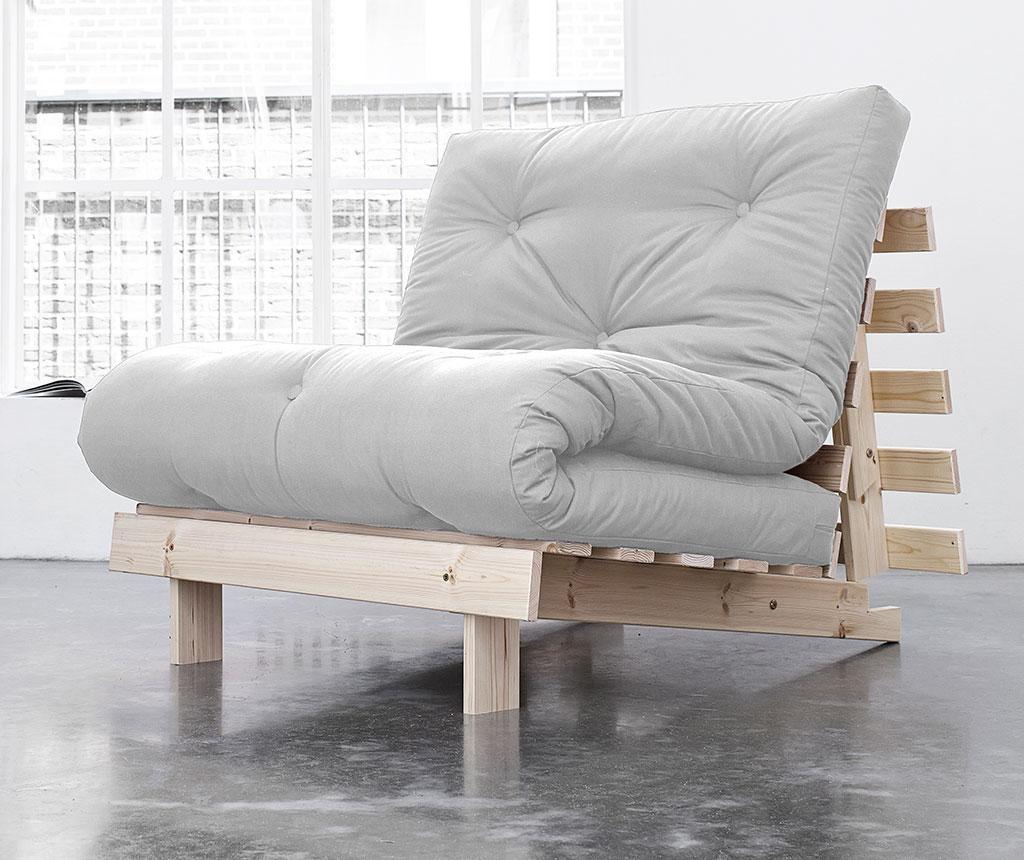 Sofa na razvlačenje Roots Natural and Light Grey