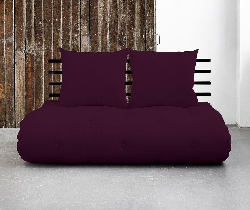 Shinsano Black and Purple Plum Kinyitható szófa