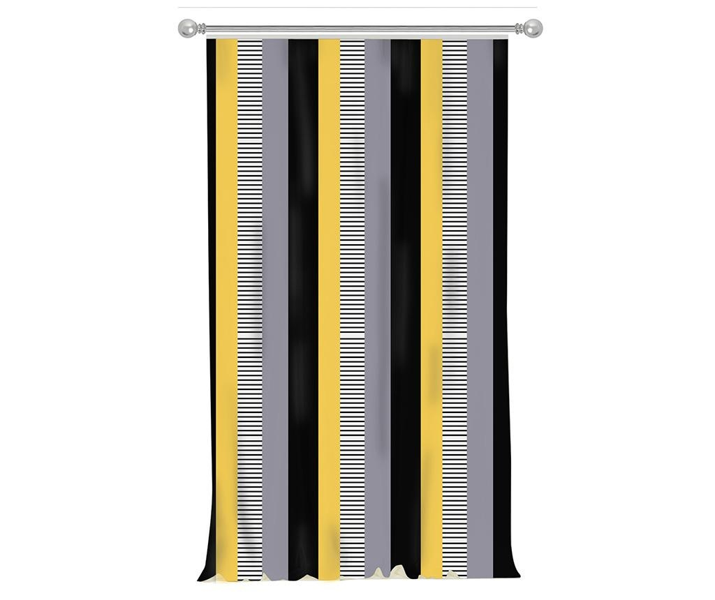 Zastor Stripe Yellow 140x270 cm