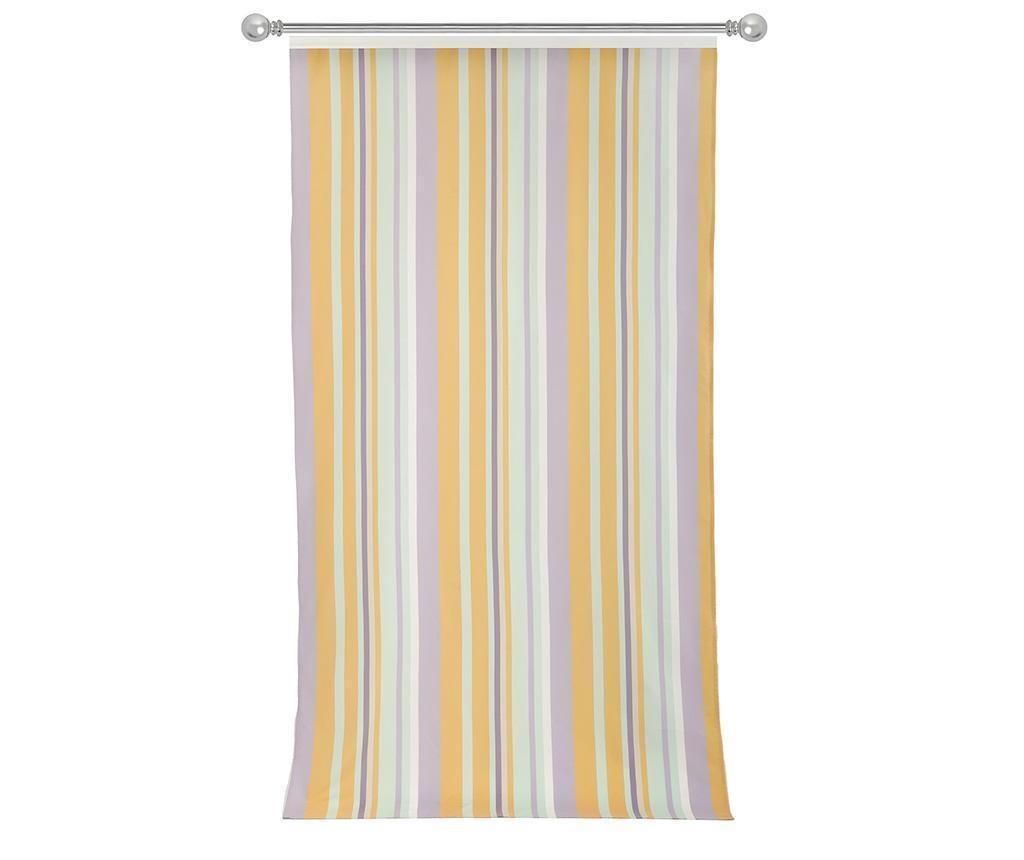 Závěs Stripes Light Blue Yellow 140x270 cm