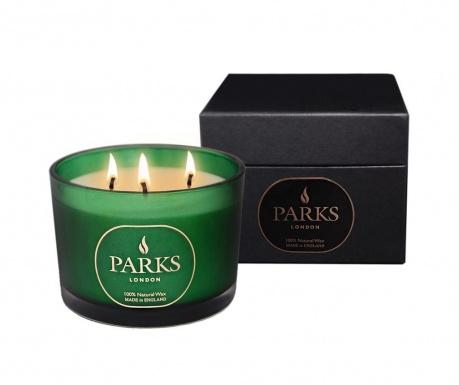 Vonná sviečka s 3 knôtmi Parks Moods Cedar & Patchouli