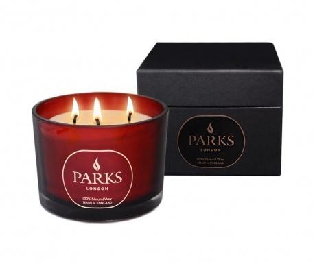Vonná sviečka s 3 knôtmi Parks Moods Tuberose & Geranium