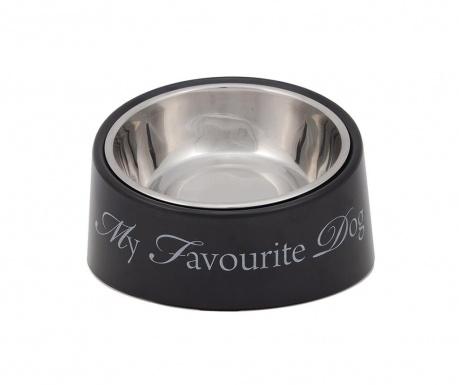 Zdjela za hranu za pse My Favourite Dog Grey
