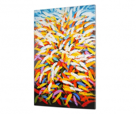 Obraz Abstract Feathers 80x130 cm