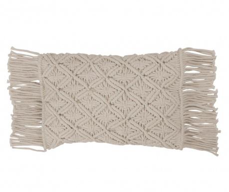 Ukrasni jastuk Macrame White Grey 30x50 cm