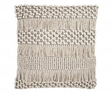 Ukrasni jastuk Macrame Oasis Black White 50x50 cm