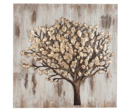 Zidni ukras Wood Golden Tree