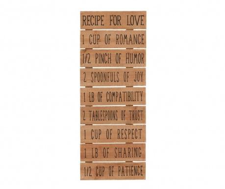 Nástenná dekorácia Recipe For Love