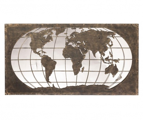 Dekorácia so zrkadlom World Map