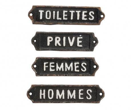 Sada 4 nástenné dekorácie French Home