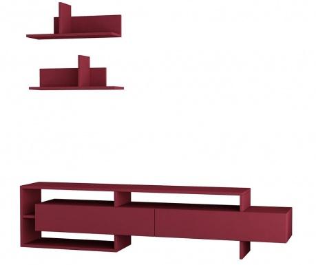 Obývacia stena Gara  Claret Red