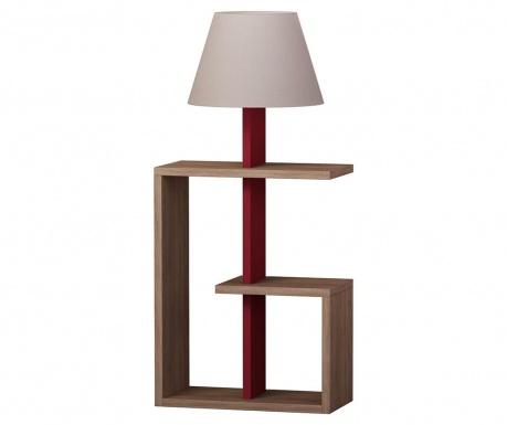 Podlahová lampa Saly  Oak Claret Red