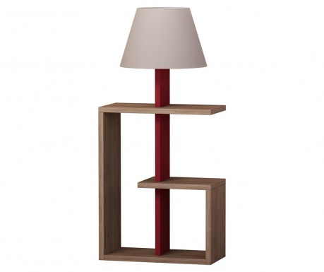 Lampa podłogowa Saly  Oak Claret Red