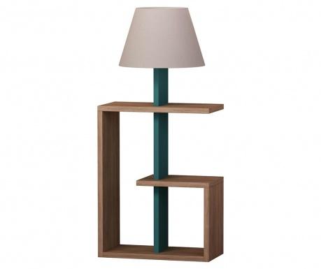 Podlahová lampa Saly  Oak Turquoise