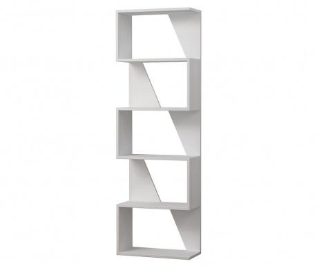 Knižnicový diel Frame  White