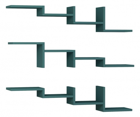 Zestaw 3 półek Step  Turquoise