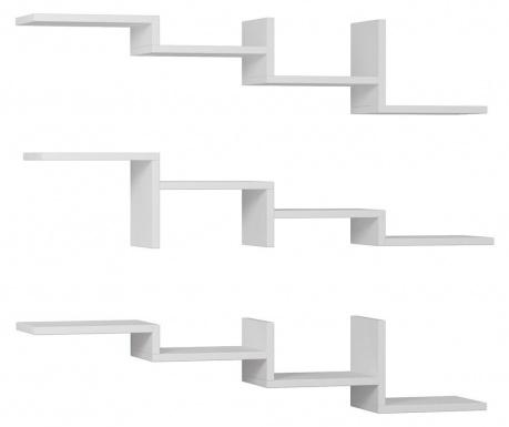 Zestaw 3 półek Step  White