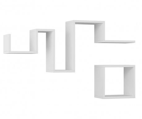 Zestaw 2 półek ściennych Follow  White