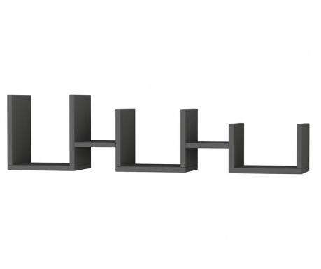 Nástenný regál Uzu  Anthracite