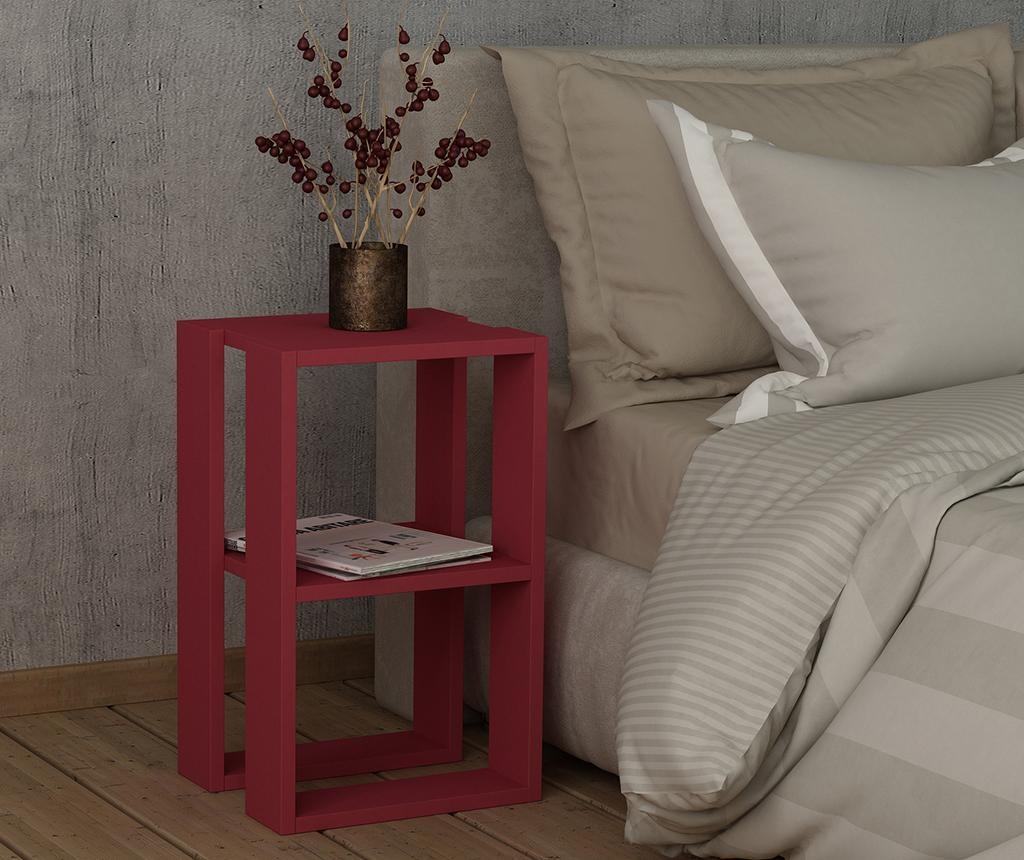 Nočna omarica Lonie  Claret Red
