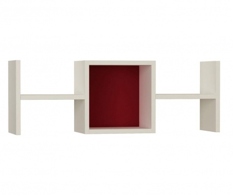 Nástenný regál Tie Fighter  White Claret Red