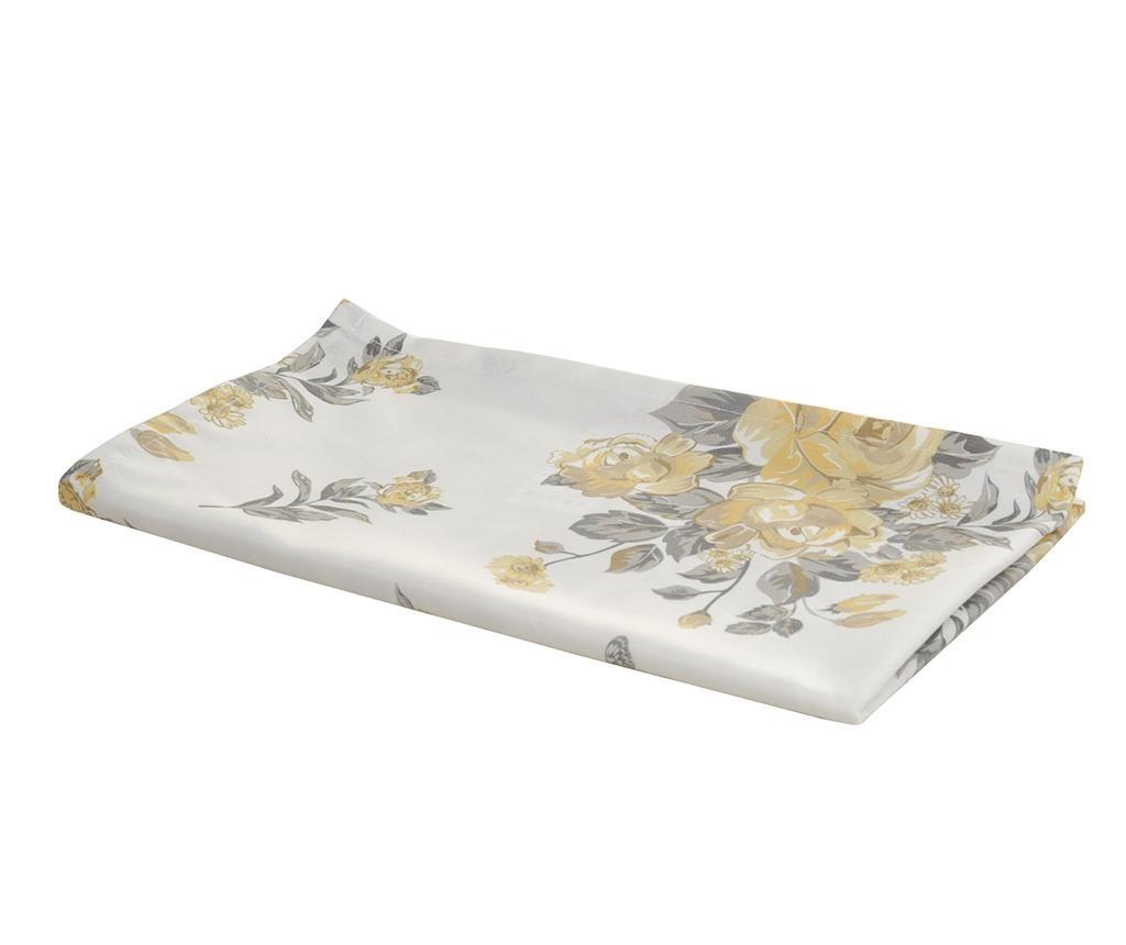 Stredový obrus Roses White Yellow 40x140 cm