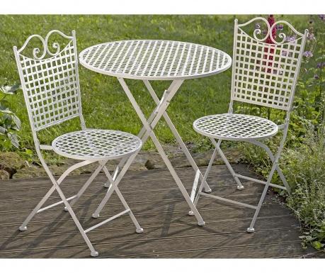 Sada stôl a 2 exteriérové skladacie stoličky Queenie