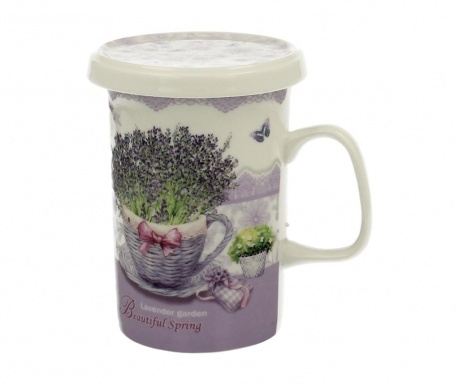 Чаша с капак и инфузор Lavender Garden 300 мл