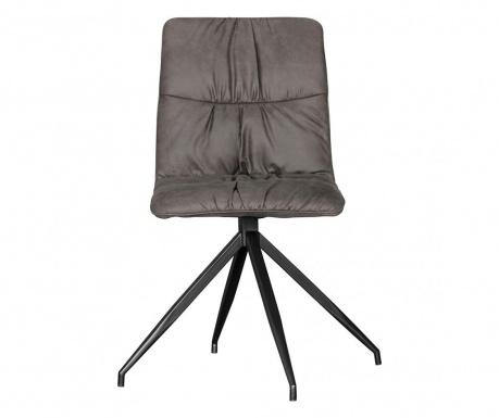 Sada 2 otočných židlí Herry Anthracite