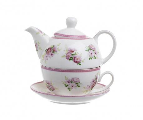 Set čajnik sa šalicom i tanjurićem Flowers