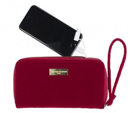 Portfel z baterią zewnętrzną Adrienne Vittadini Embossed Red