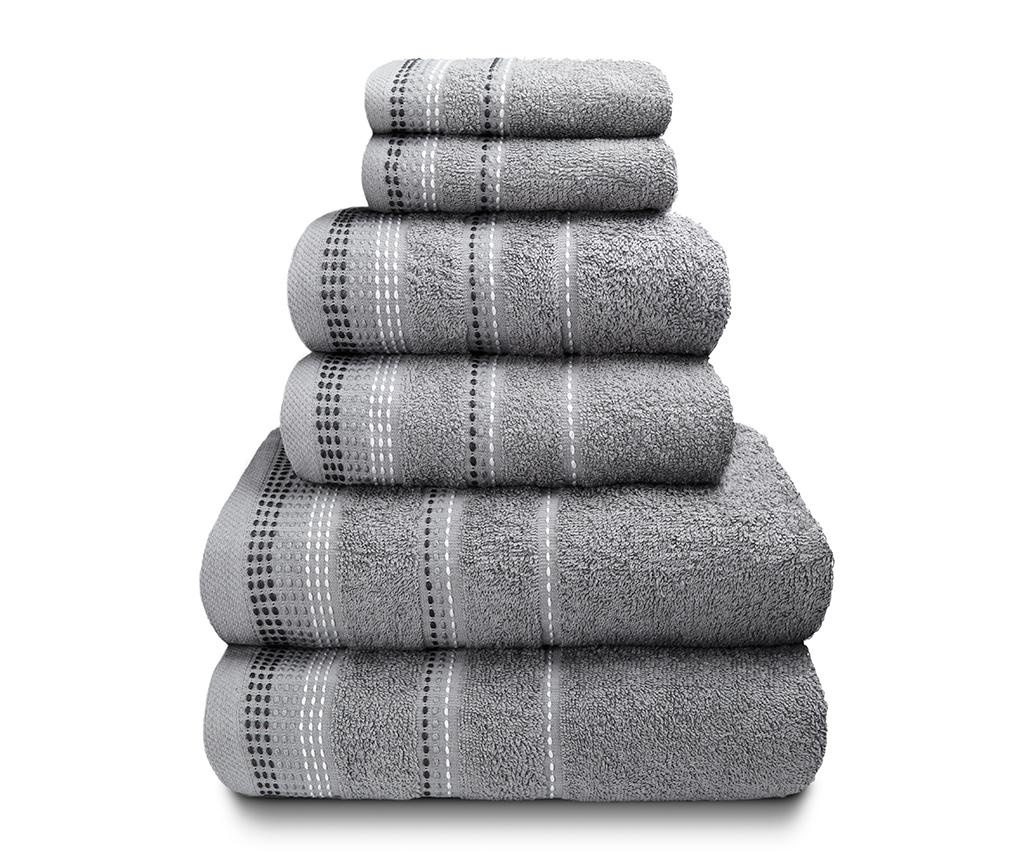 Set 6 kopalniških brisač Berkley Silver