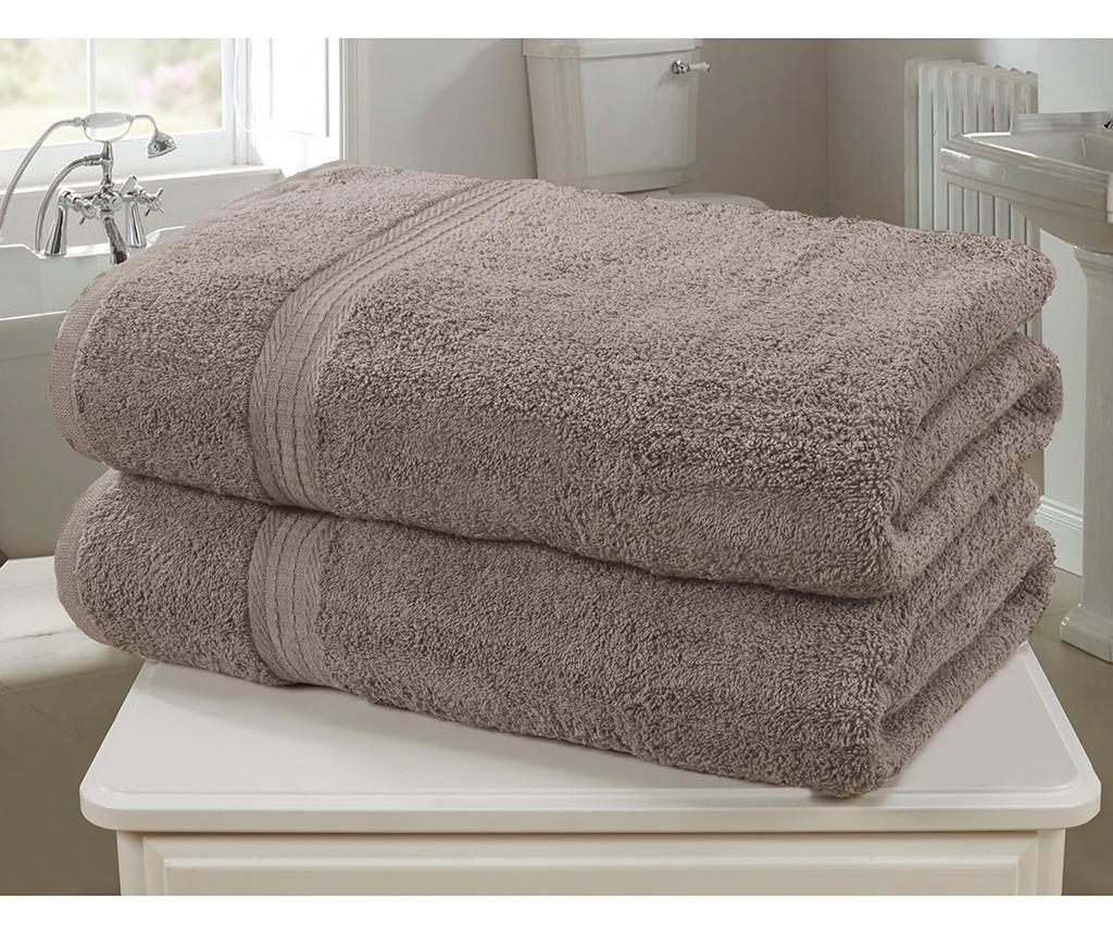 Set 2 kopalniških brisač Royal Kensington Latte 90x140 cm