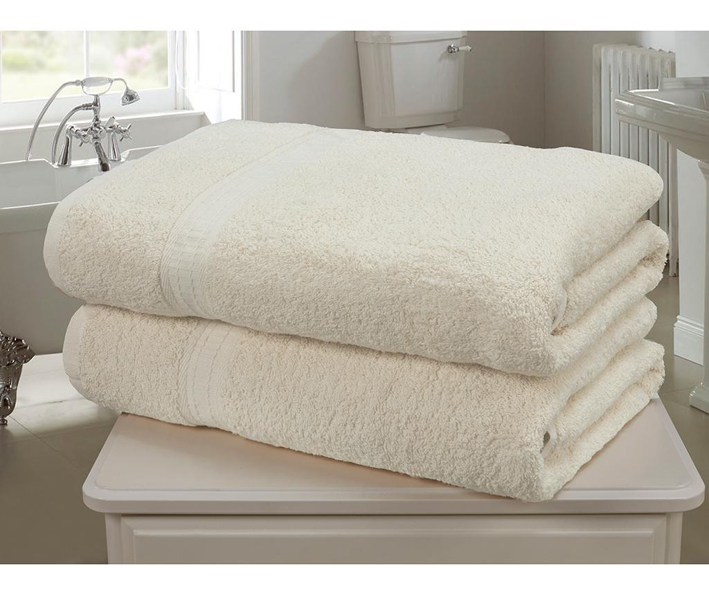 Set 2 kopalniških brisač Royal Kensington Cream 90x140 cm